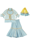 Belle blue sharara set