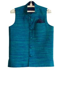 Blue Double Sided Nehru Jacket