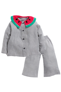 Black stripe watermelon sleepwear