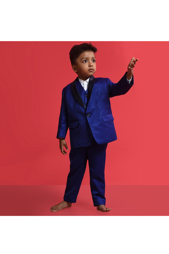 Blue tuxedo set! suitss & blazers for boys, designer blazers for boys, designer suitss and blazers for kids
