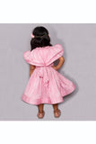 Pink wrinkled metallic fabric dress! Designer Dresses for Girls, Designer Dresses for Baby Girls, Designer Partywear Dresses for Girls, Party Dresses for Girls, Smart Partywear Dresses for Girls, Designer Party Dresses for Girls