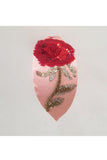 Pink rose motif design hairband