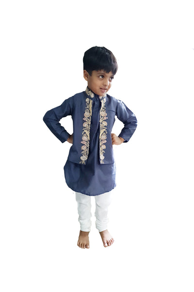 Victorian Zardozi jacket with Kurta