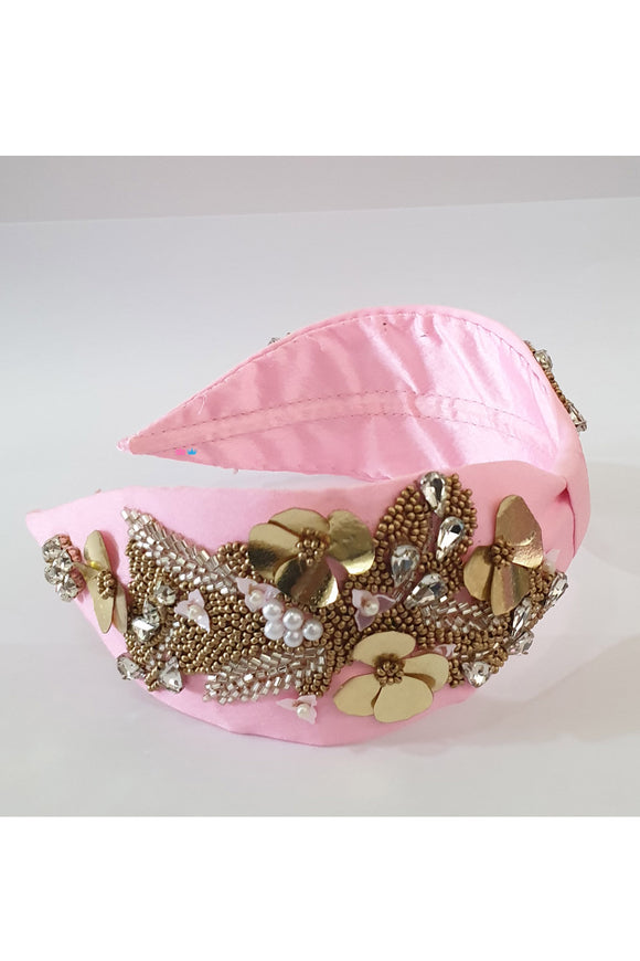 Pink satin silk hairband! designer Hair Accessories, designer Hair Clips, designer Hair Bands, Hair Accessories for girls