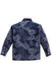 Leaf print full sleeves shirt