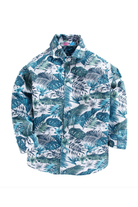 Beach print full sleeves shirt