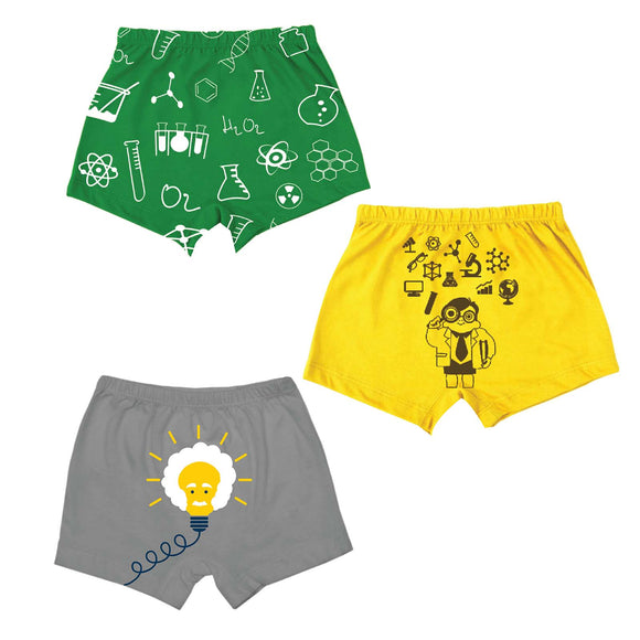 Boys the scientist print boxer shorts