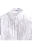 White pintucks full sleeve shirt
