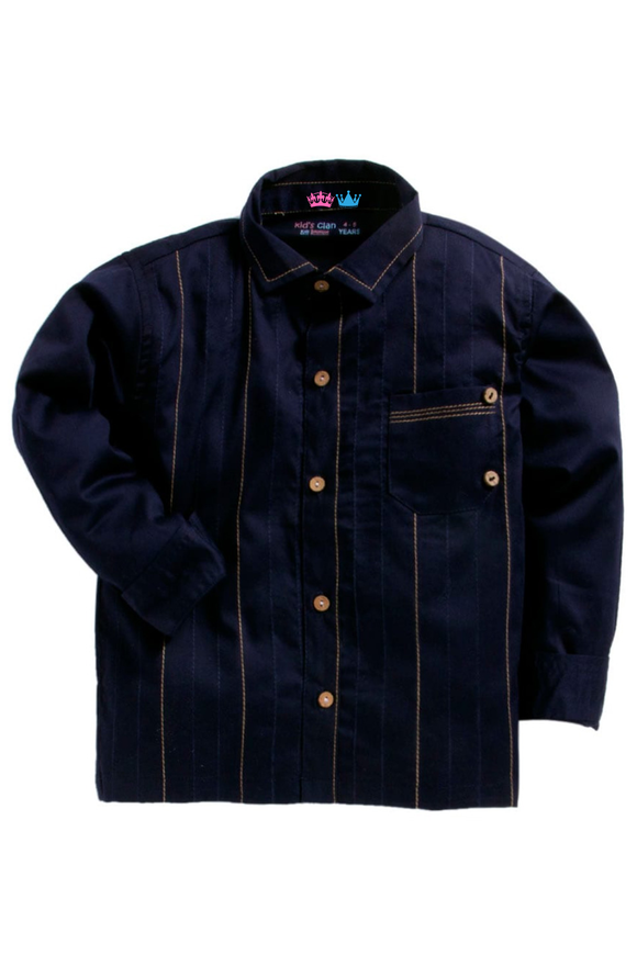 Navy blue anchor thread shirt