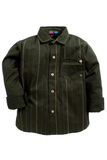 Olive green anchor thread shirt