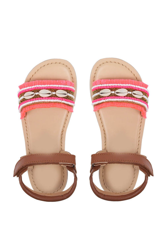 Brown tribe sandals! Footwear for girls, Flip flop for girls, designer sandals for girls, belly shoes for girls, designer kolhapuri flats