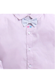 Baby pink shirt with denim pants set