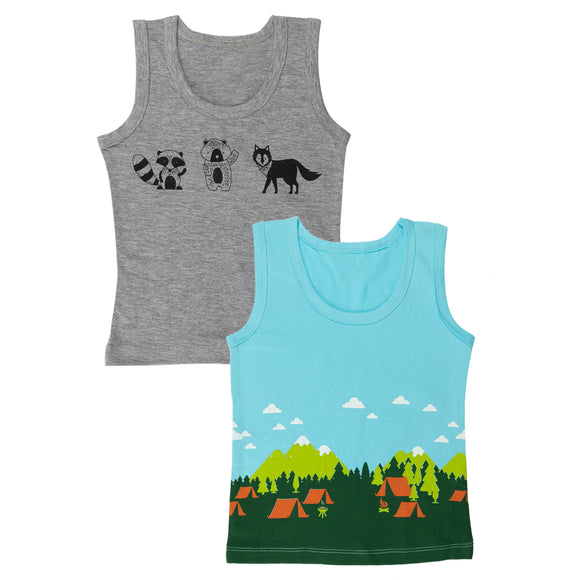 Boys happy camper vests