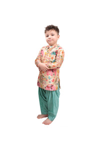 Big Elephant Print Kurta with Patiala Salwar