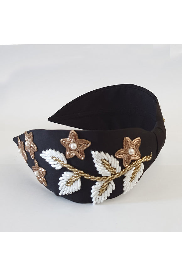 Black leaf embroidery hairband! designer Hair Accessories, designer Hair Clips, designer Hair Bands, Hair Accessories for girls