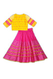 Organza mustard blush lehenga set! Get the Best Designer Lehenga Sets for Baby Girls, Designer Choli Ghagra Sets for Baby Girls, Designer Lehenga Choli Sets for Girls, Designer Lehenga Choli for kids, Lehenga for Girls, Ghagra for Girls, Ethnic wear for Girls, Indian Wear for Girls, Designer Ghagra for Kids