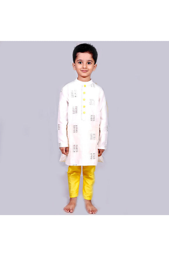 Abla work white kurta and pyjama