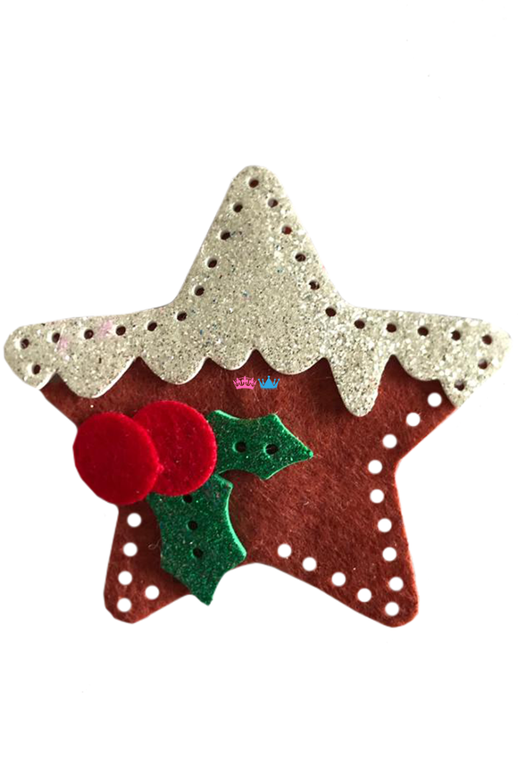 Seasonal star theme hair clip