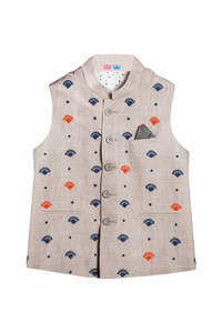 Boys Grey linen bandi