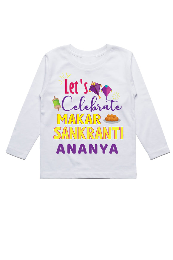 Personalised white lets celebrate Tshirt