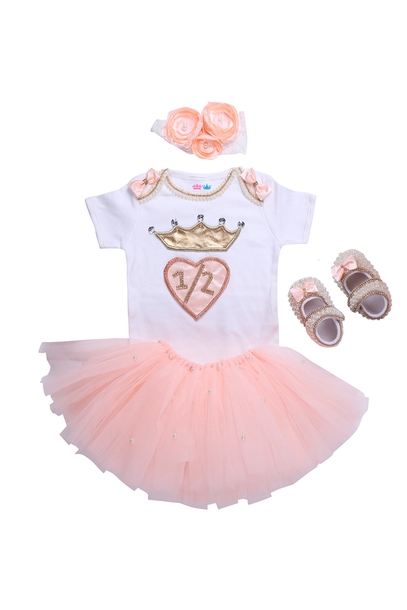Peach Half Birthday Tutu Outfit
