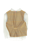 Organic Peach waistcoat with matching shirt and bermuda