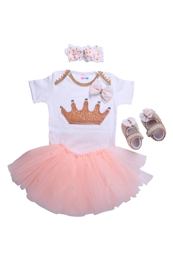 Peach Crown Tutu Outfit