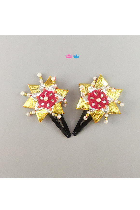 Ethnic star theme hair clip