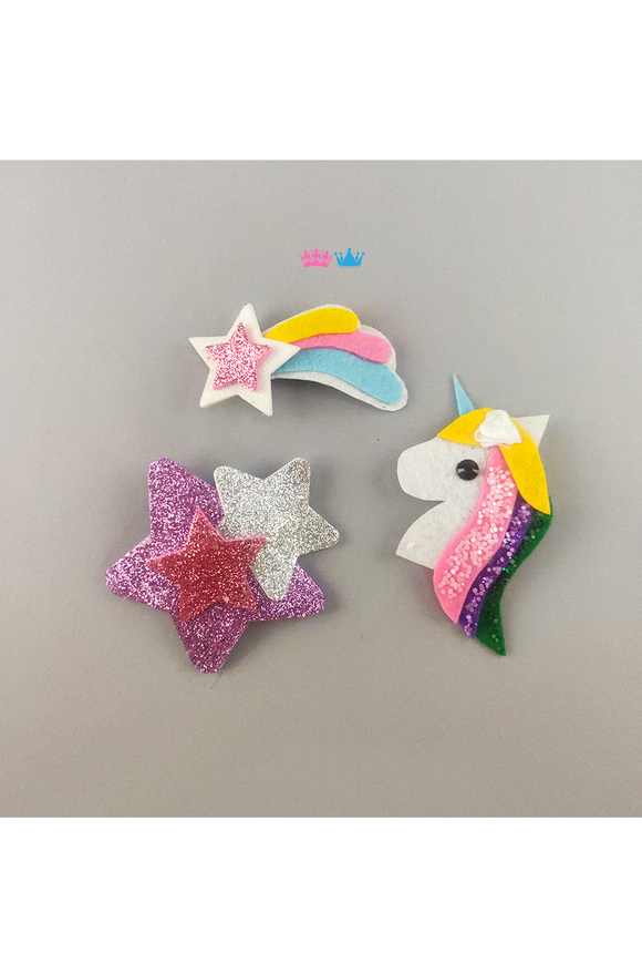 Unicorn Magical Kingdom Hair Clips