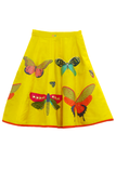 Yellow butterfly embroidered lehenga and top