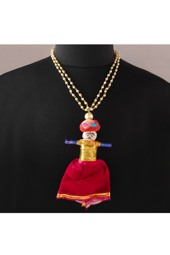 Doll hanging necklace
