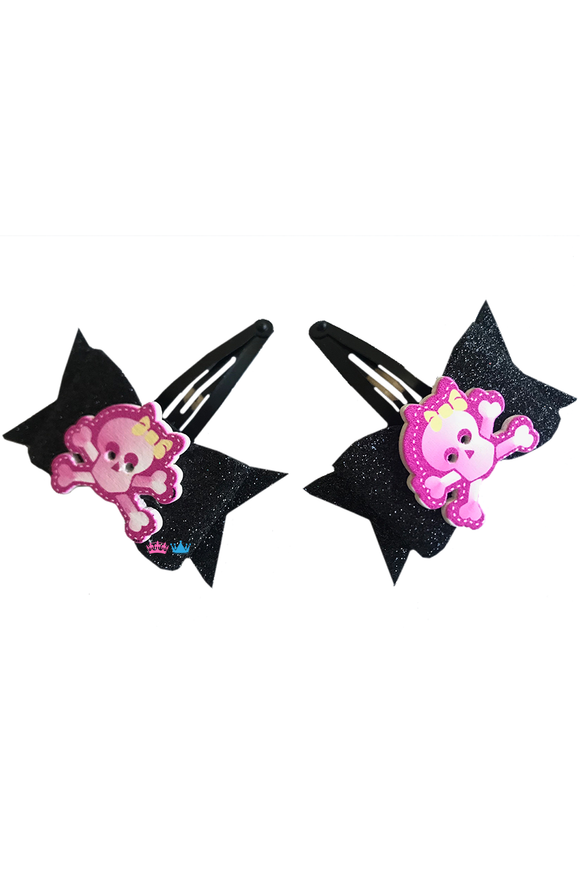 Halloween Danger Theme Hair Clips