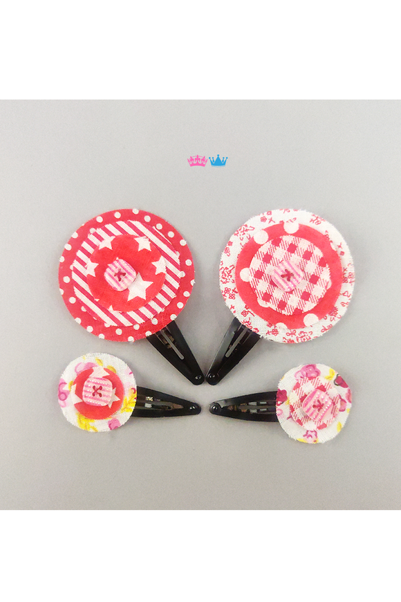 Circular power theme hair clip