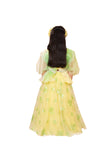 Yellow and green floral sequins ghaghra set