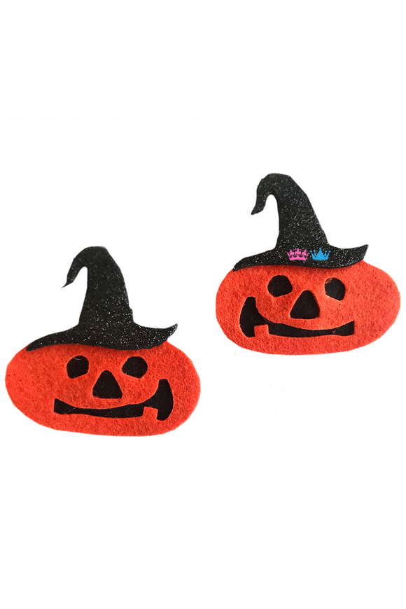 Halloween Jack O Lantern Theme Hair Clips