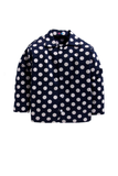Navy blue polka dot print sleepwear