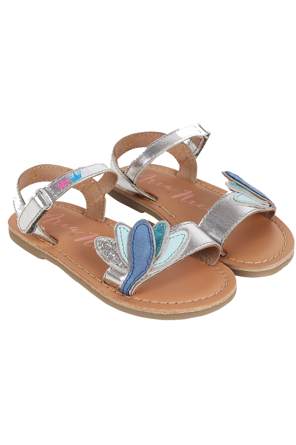 Lotus Silver Sandals