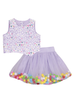 Top and skirt for girls, Designer partywear top & skirt, Cambric cotton skirt sets for girls