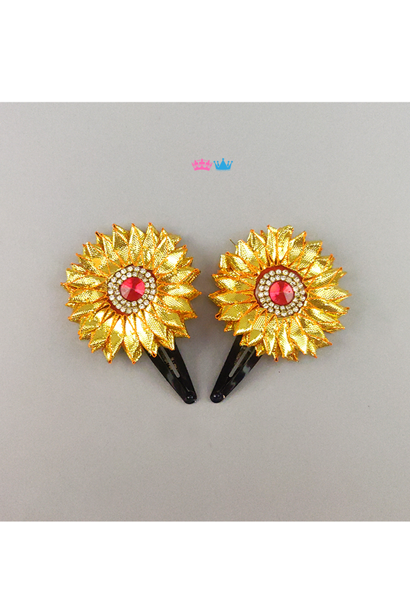 Traditional flower lets theme hair clip