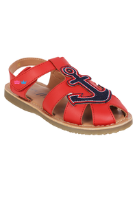Anchor red sandals