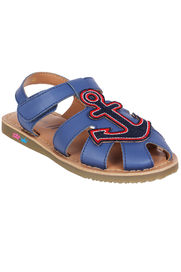 Anchor blue sandals
