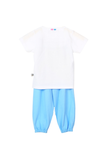 Blue, cuteness alert 2pc night suit