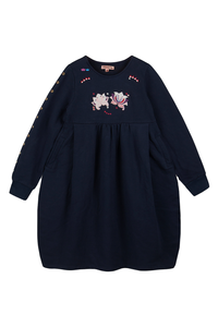 Nonna navy blue dress for winters