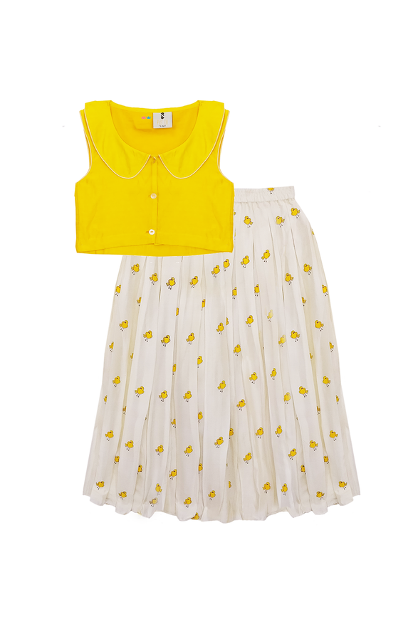 Yellow Bird skirt and top