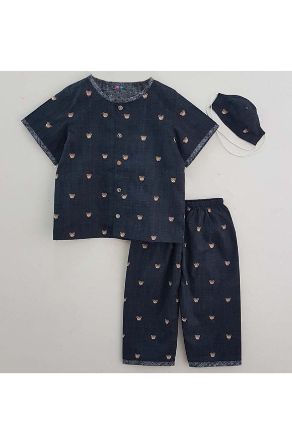 Micky mouse printed night suit with mask