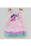 Unicorn neoprene pink dress