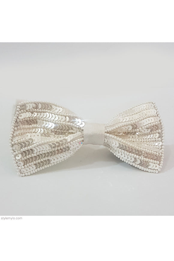 White sequins bow clip! designer Hair Accessories, designer Hair Clips, designer Hair Bands, Hair Accessories for girls