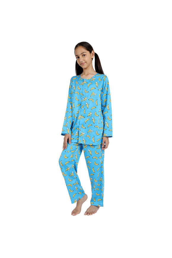 Banana print cotton nightsuit