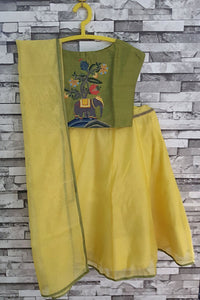 Lehenga with moghul elephant motif blouse