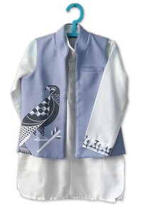 Regal Eagle Printed Jacket with Embroidered Kurta